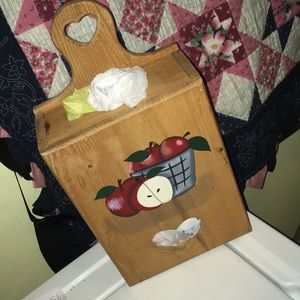Decorated Grocery Bag Holder
